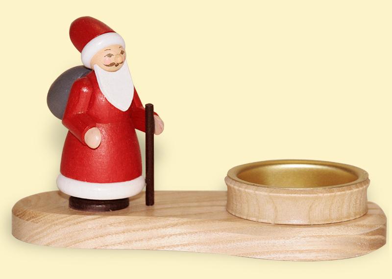 Teelichthalter Weihnachtsmann bunt